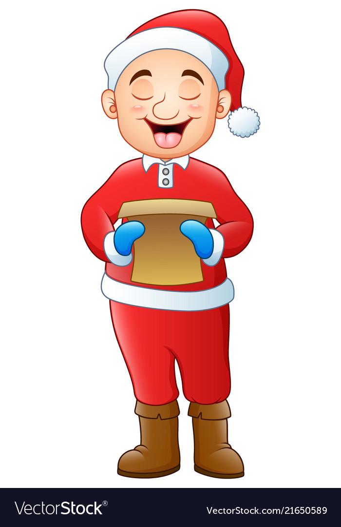 Cartoon santa singing chris