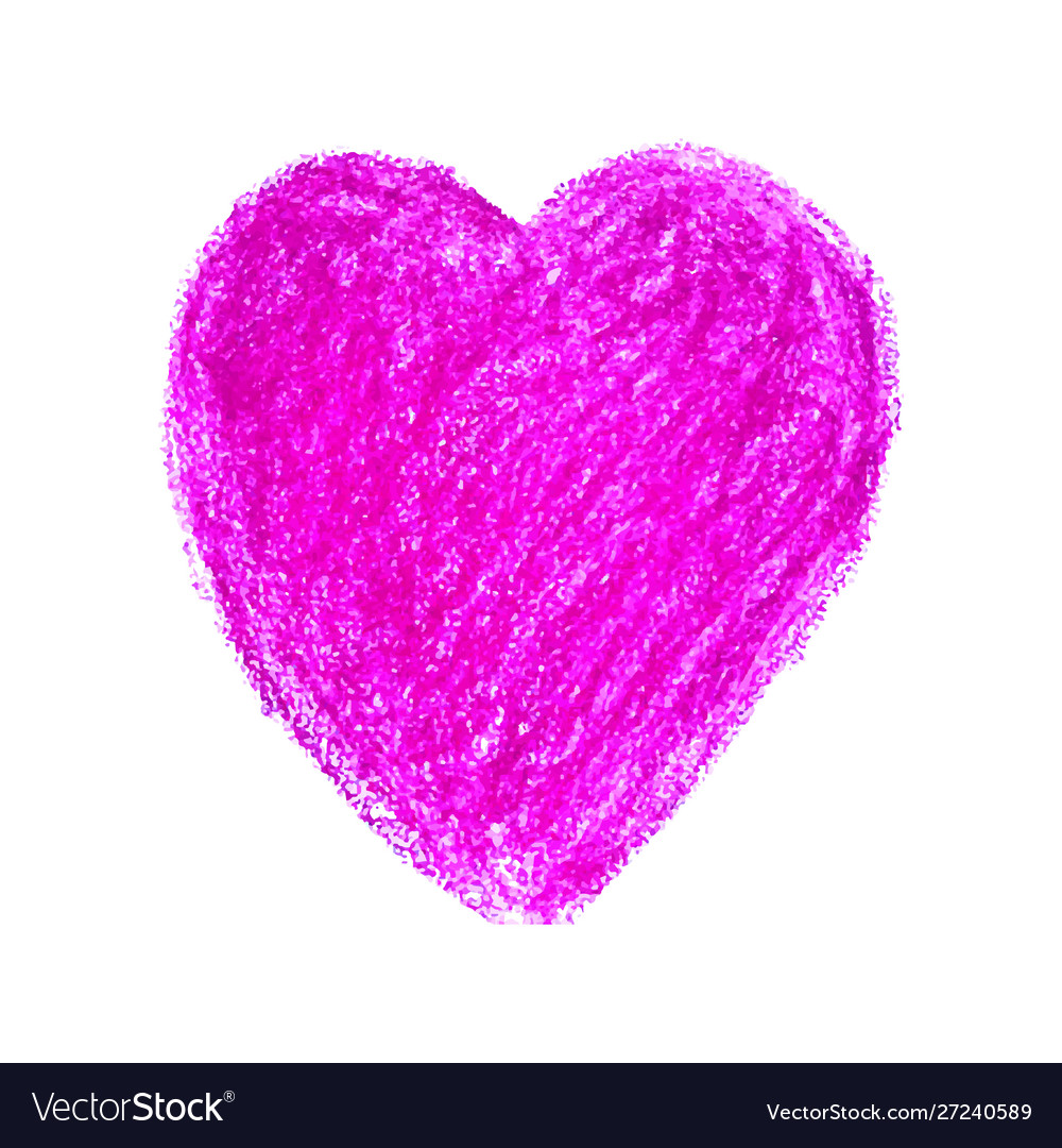Colorful heart shape drawn with