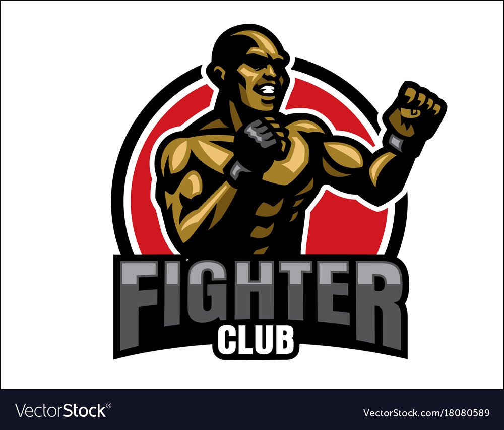Fighter Logo Royalty Free Vector Image Vectorstock