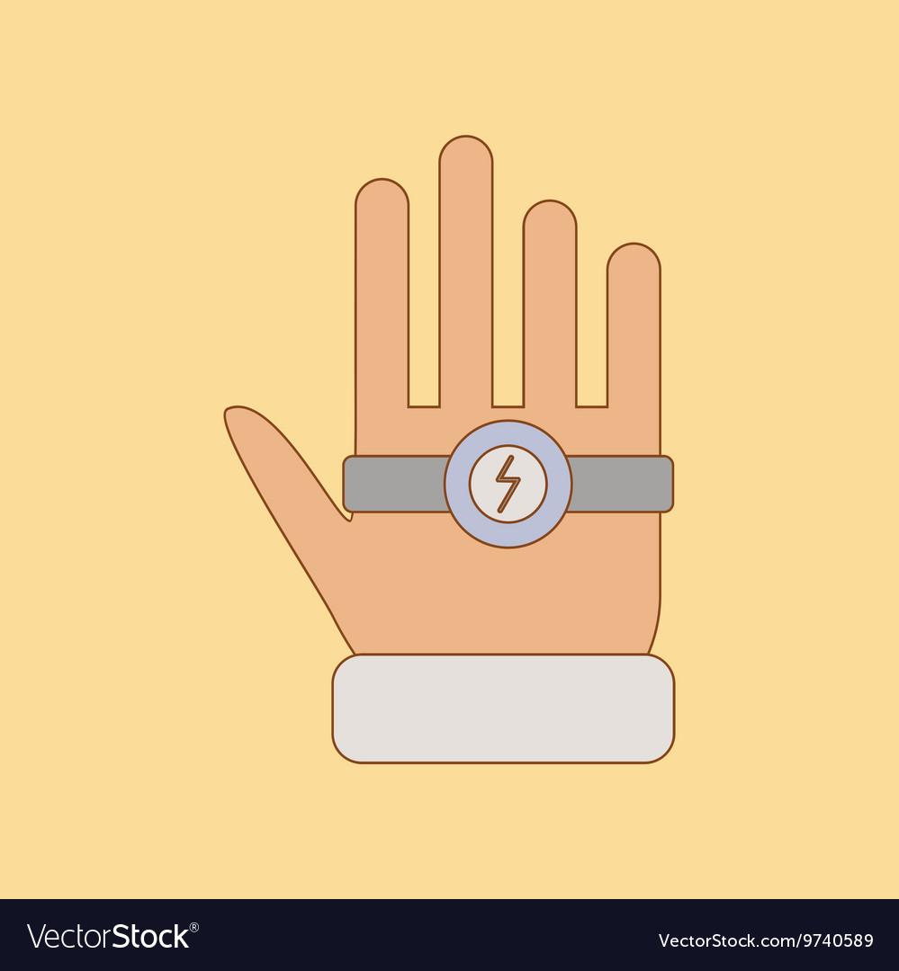 Flat icon on background Kids toy bracelet hand vector image