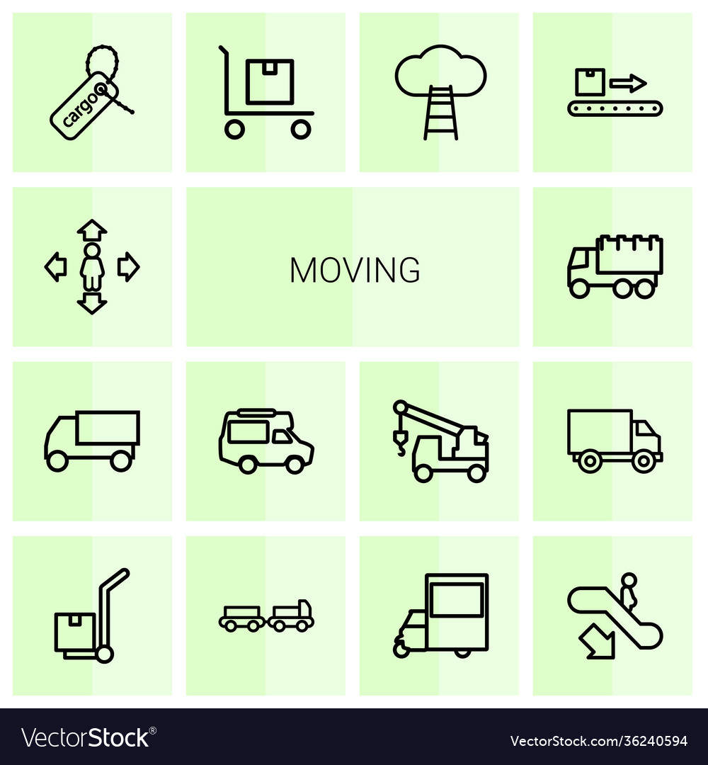 14 moving icons
