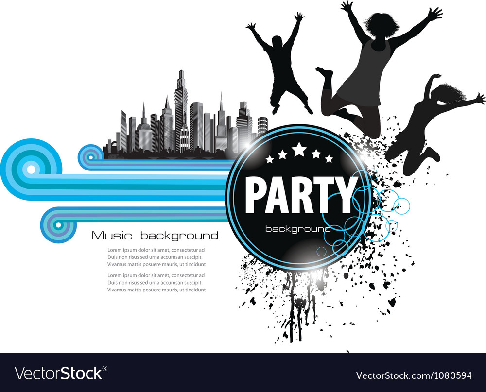 Abstract vintage background for party vector image