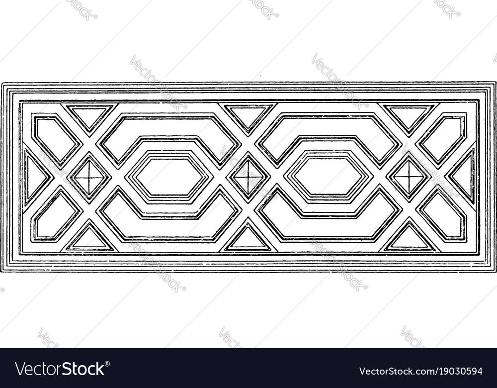 Ceiling design germany vintage engraving