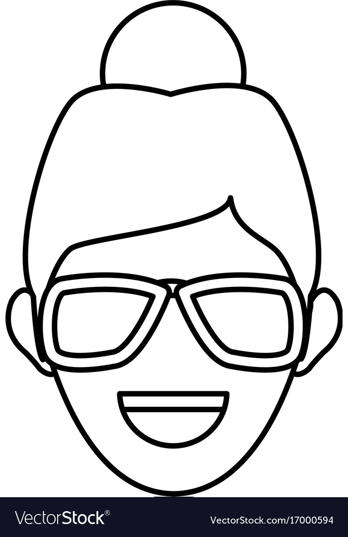 Character woman head person image contour