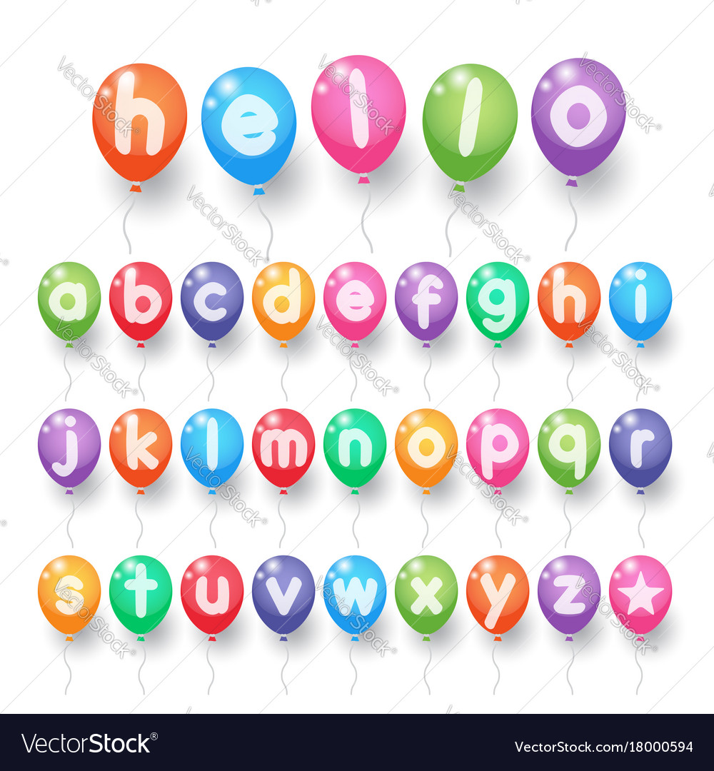 Colorful alphabet letter balloons