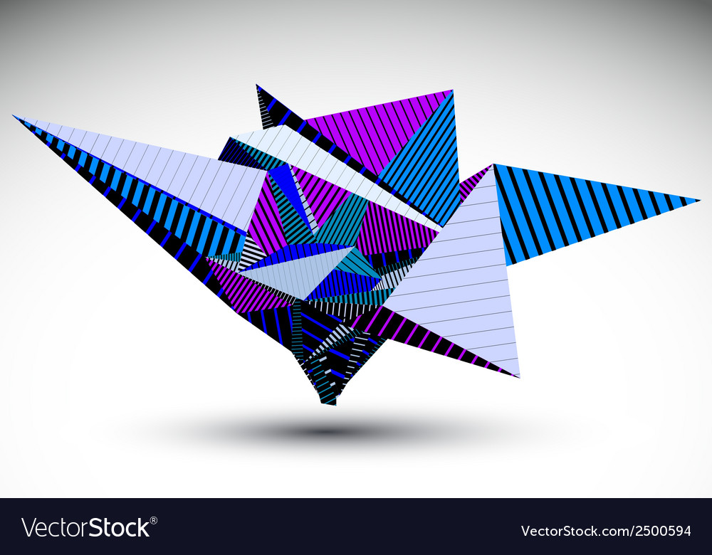 Cybernetic polygonal contrast element constructed vector image