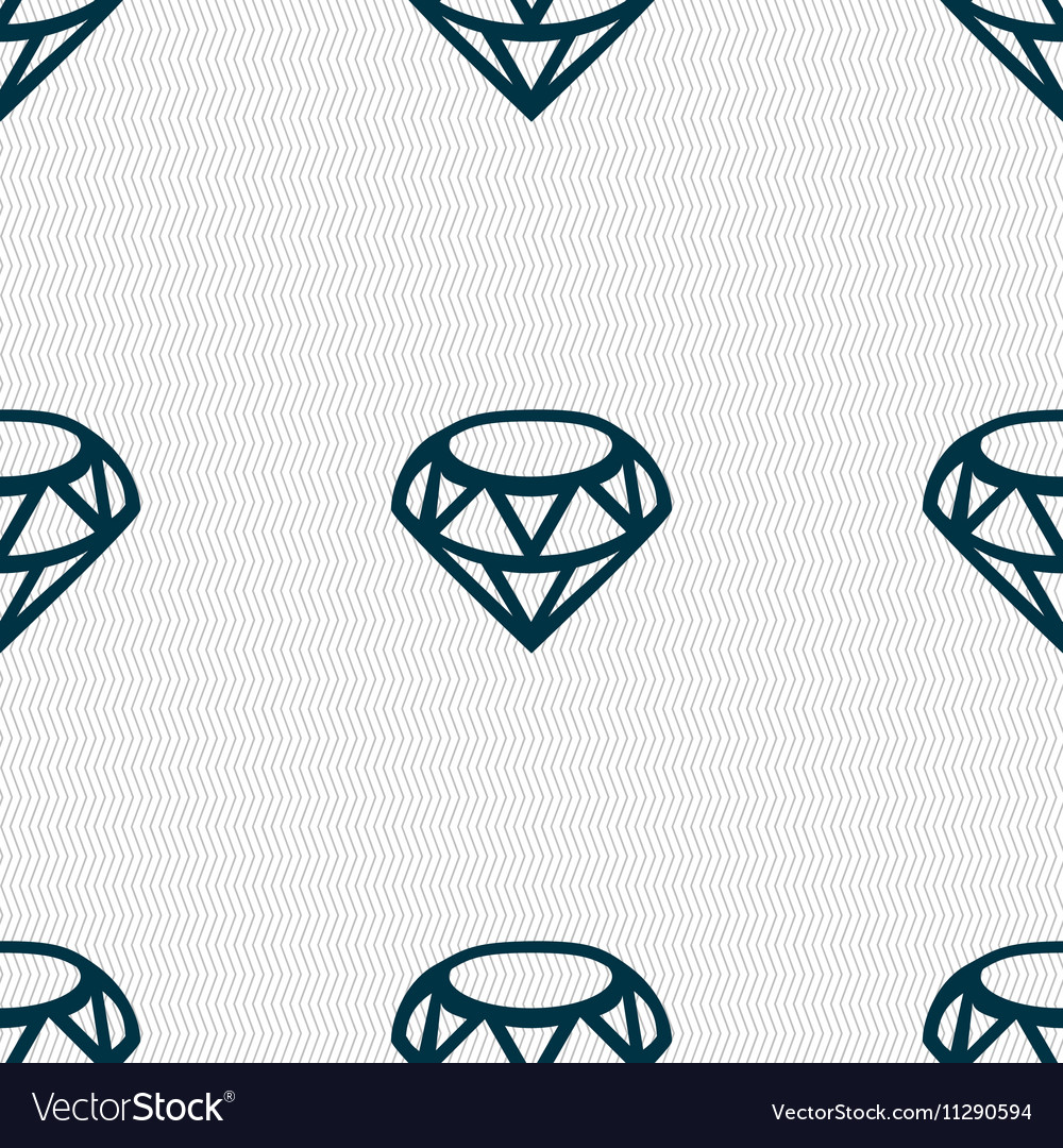 Diamond Icon sign Seamless pattern with geometric