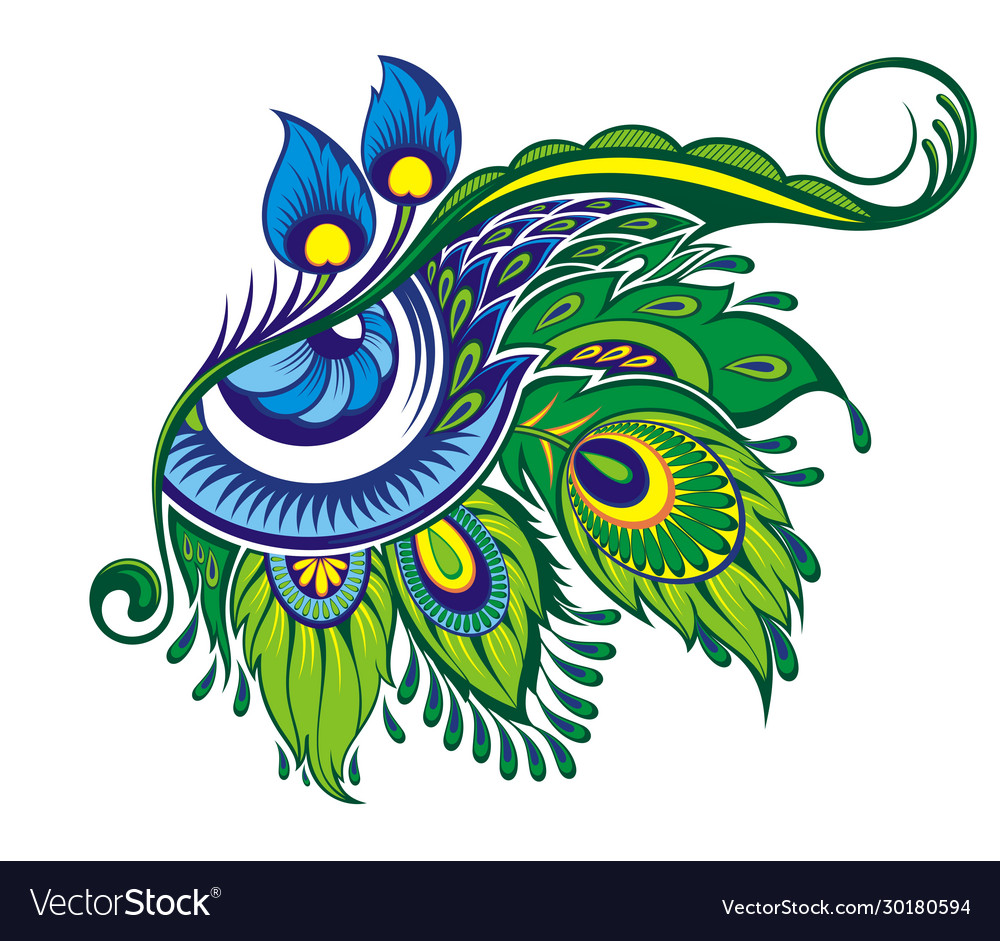 Exotic eye symbol with feathers