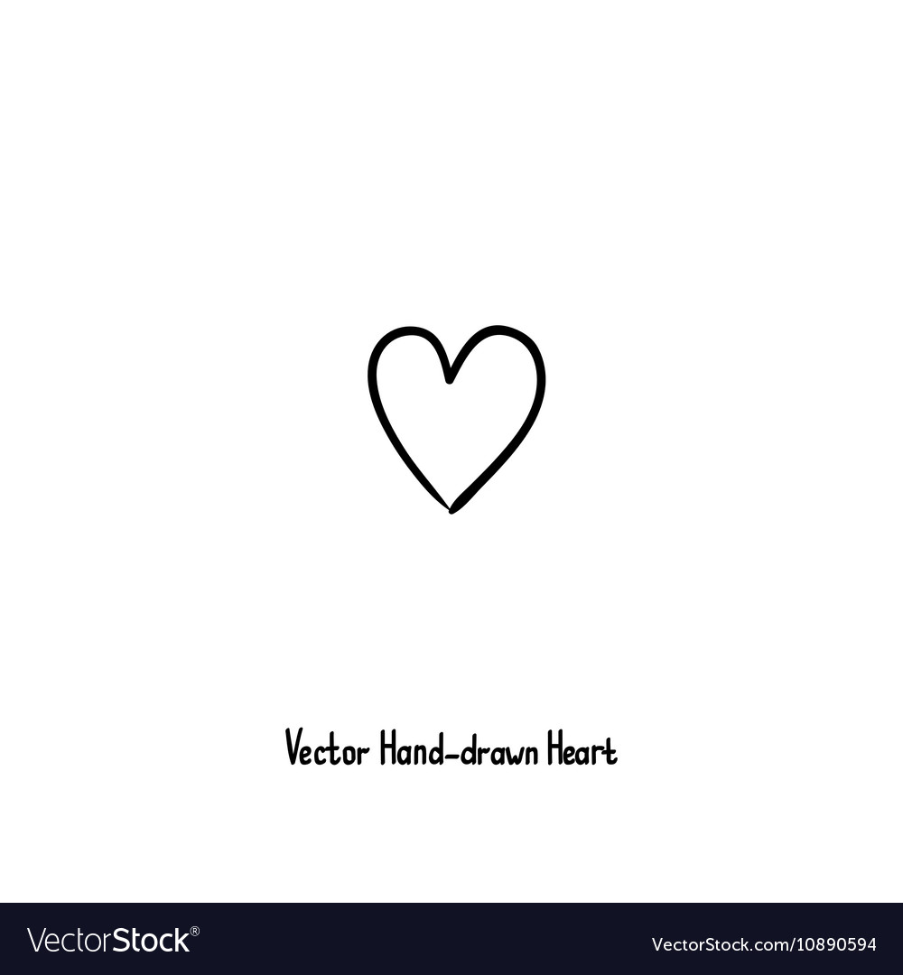 Hand-drawn heart icon Love relationships