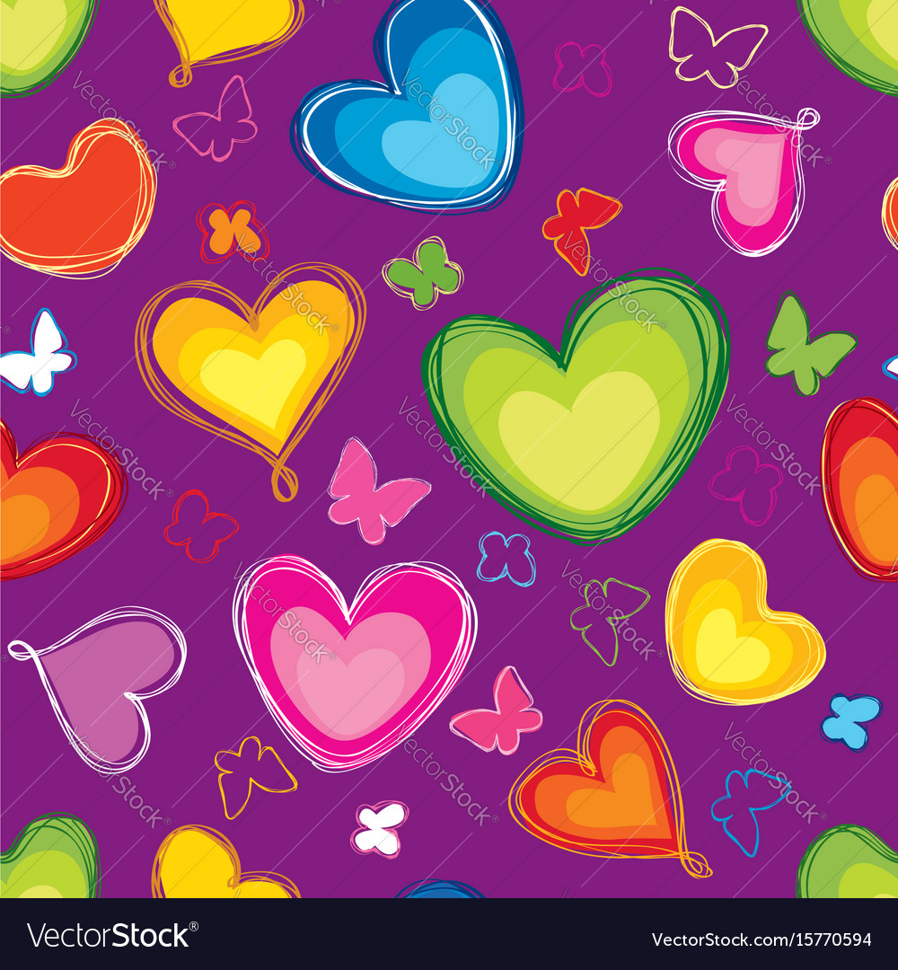 Love hearts seamless pattern valentines day