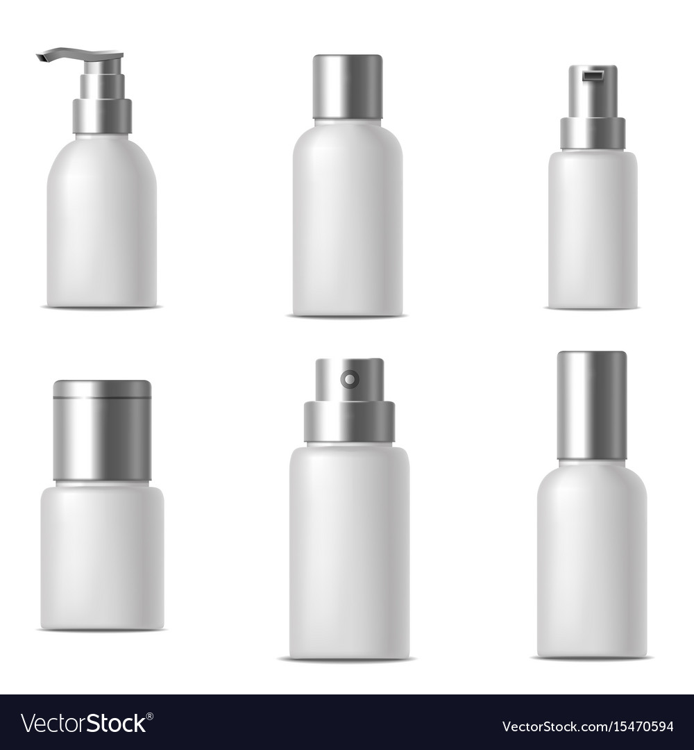 Realistic template blank white bank or bottle