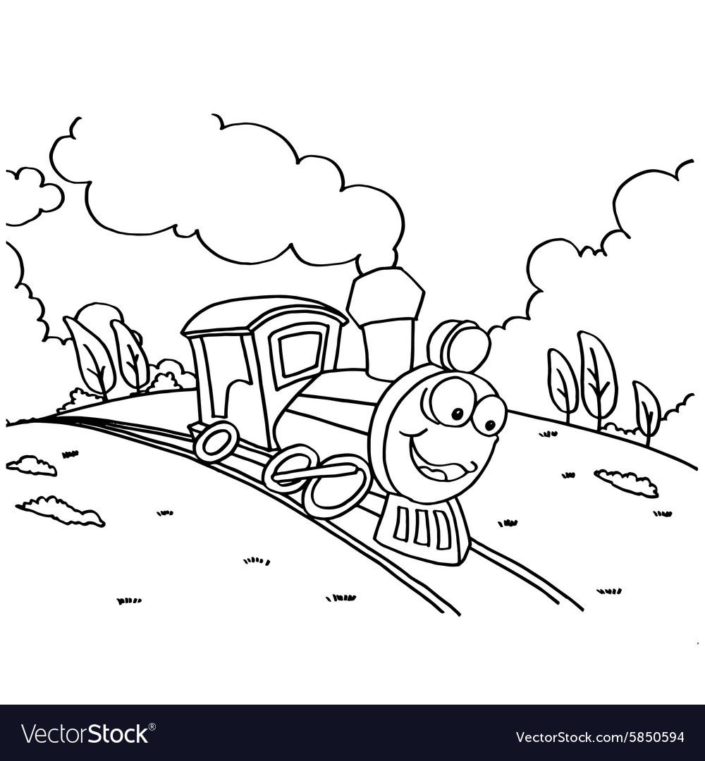 Train Coloring Pictures for Children vector image
