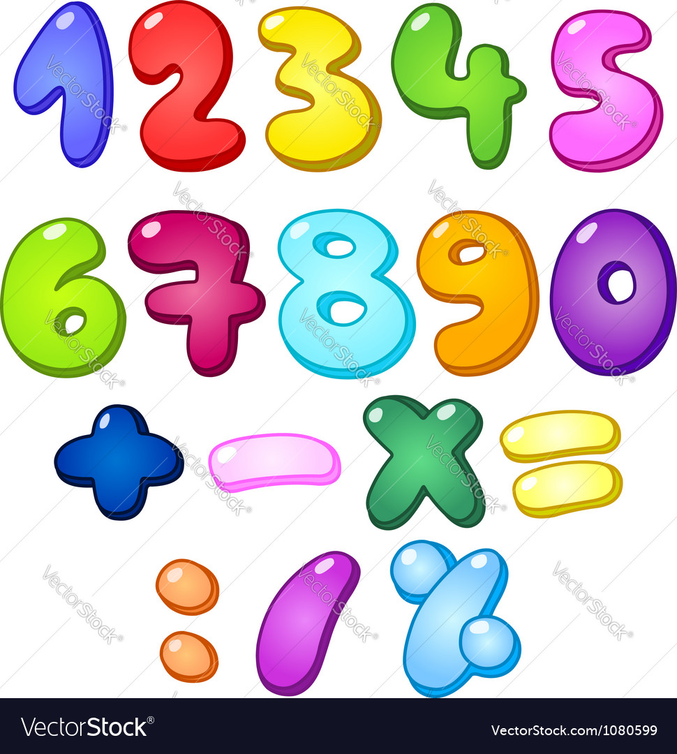 3d Bubble Numbers Royalty Free Vector Image Vectorstock