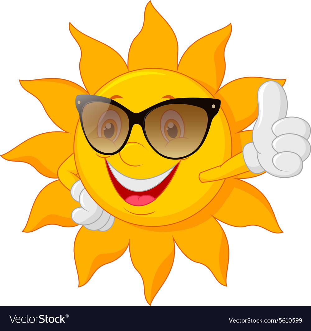 Cartoon cute sun vector image