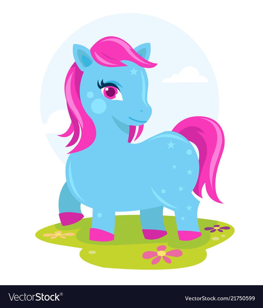 Colorful pony fantasy horse