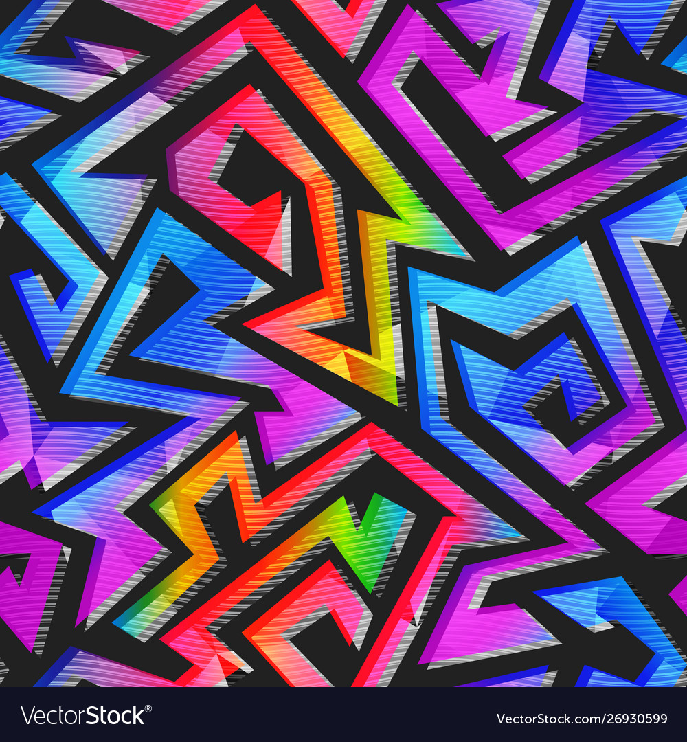 Graffiti geometric pattern