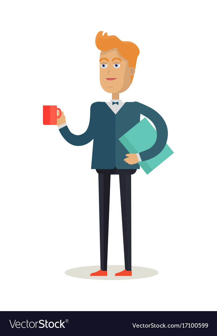 Man character in flat design