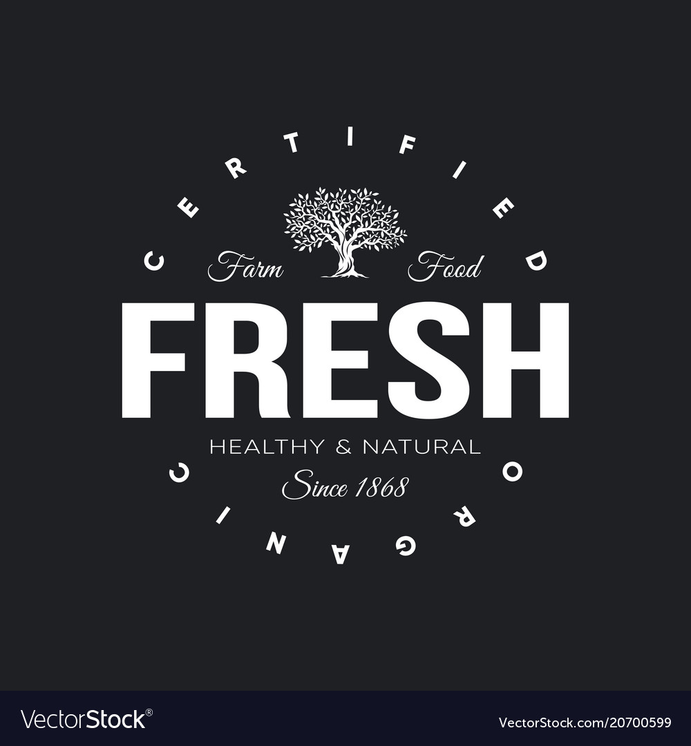 Organic natural and healthy farm fresh food retro