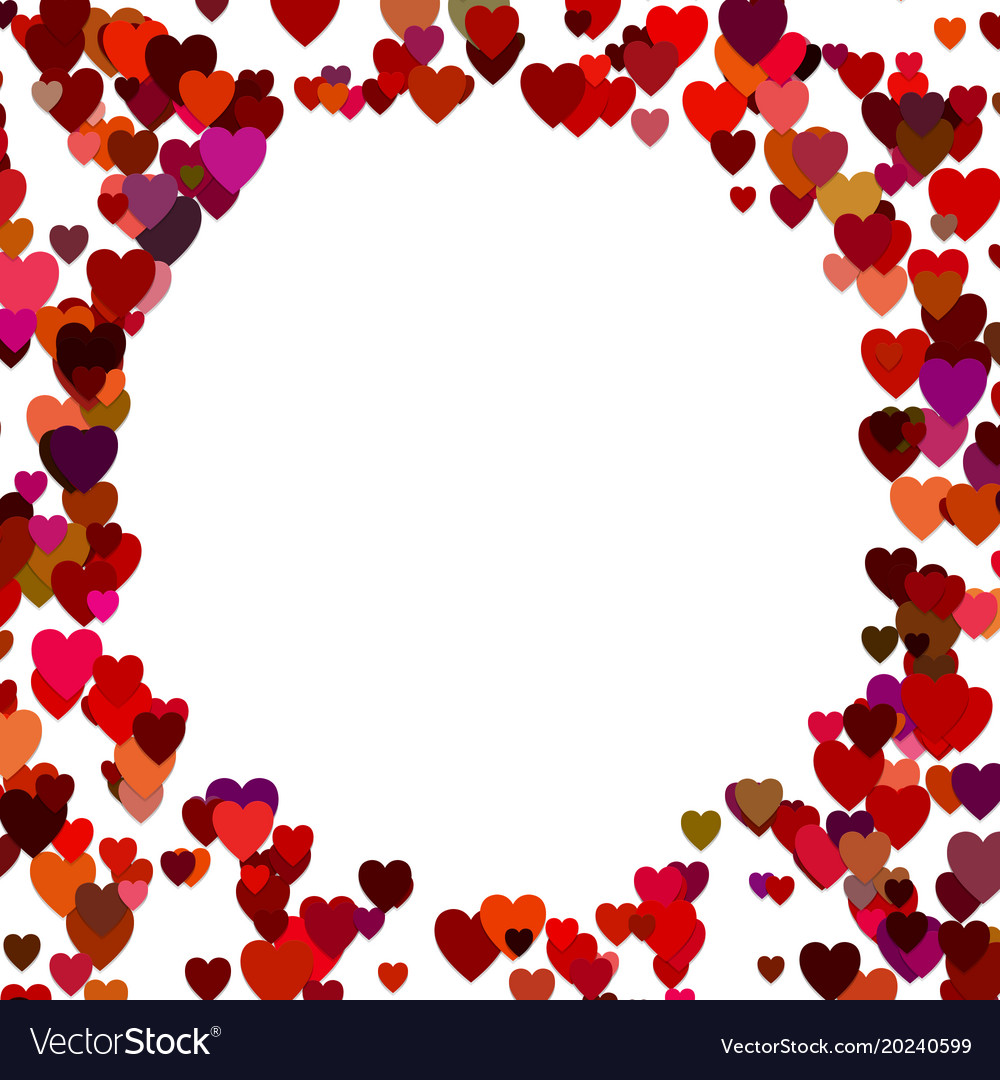 Random heart background design - valentines day