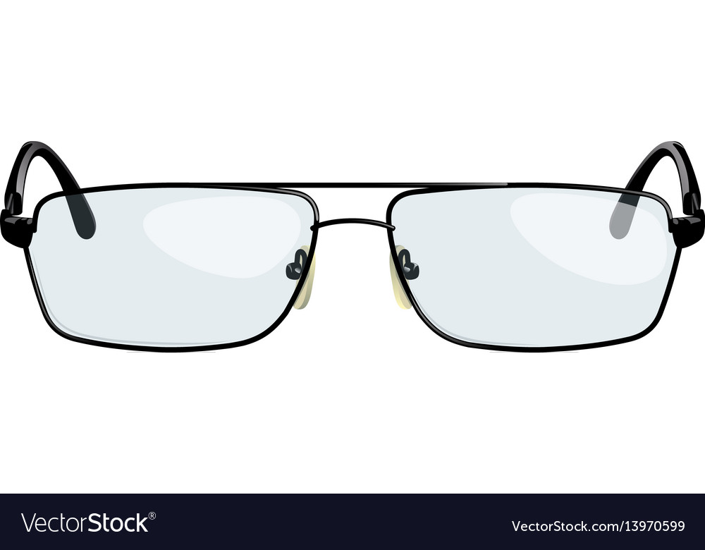 Stylish reading glasses vector image