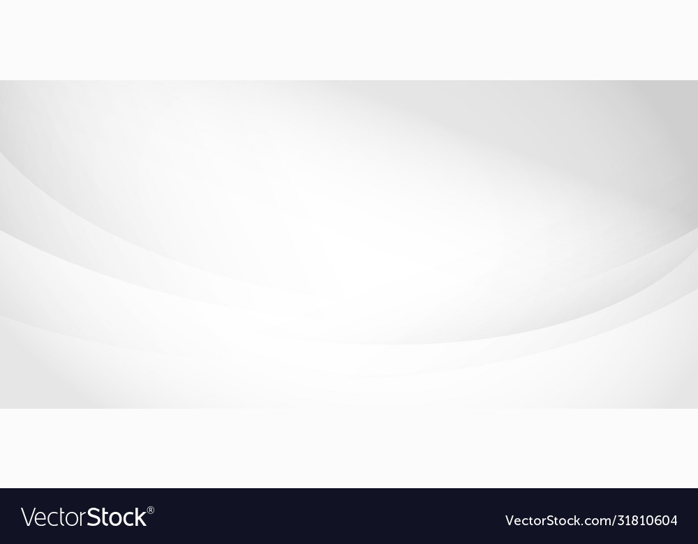 Abstract white and gray soft waves curved