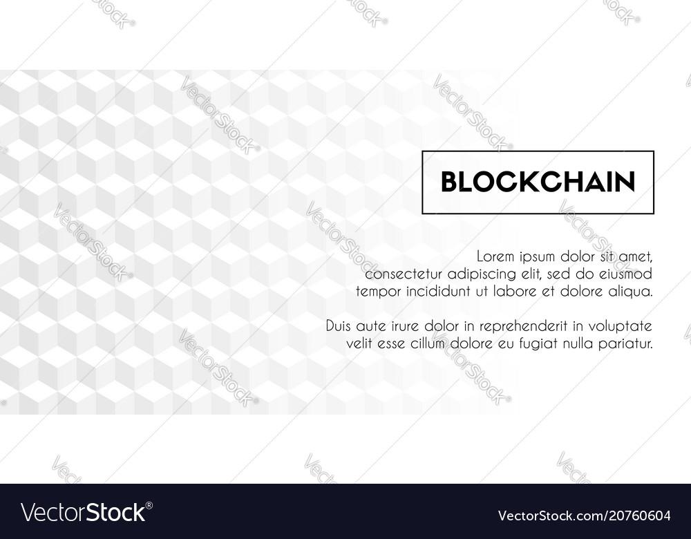 blockchain geometrical white background template vector image. Black Bedroom Furniture Sets. Home Design Ideas