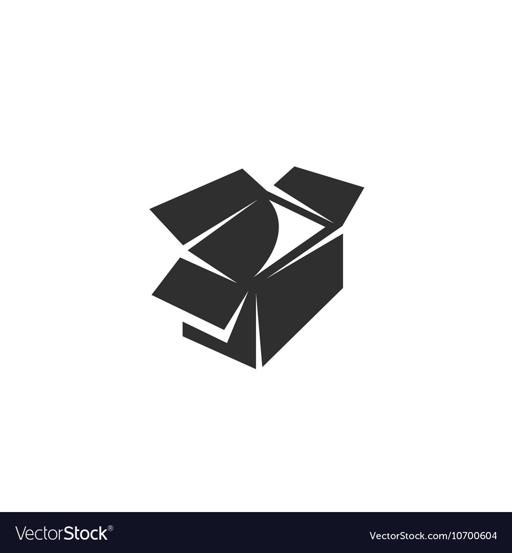 Box icon isolated on a white background