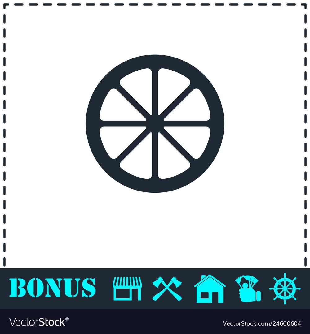 Lemon icon flat