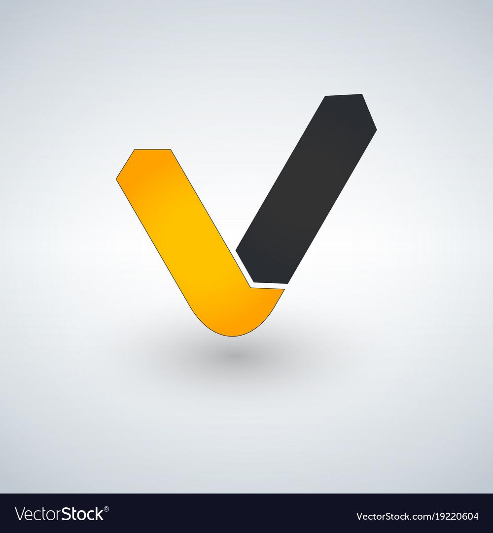 letter v logo check mark logo concept royalty free vector rh vectorstock com black checkmark logo check mark logo silver