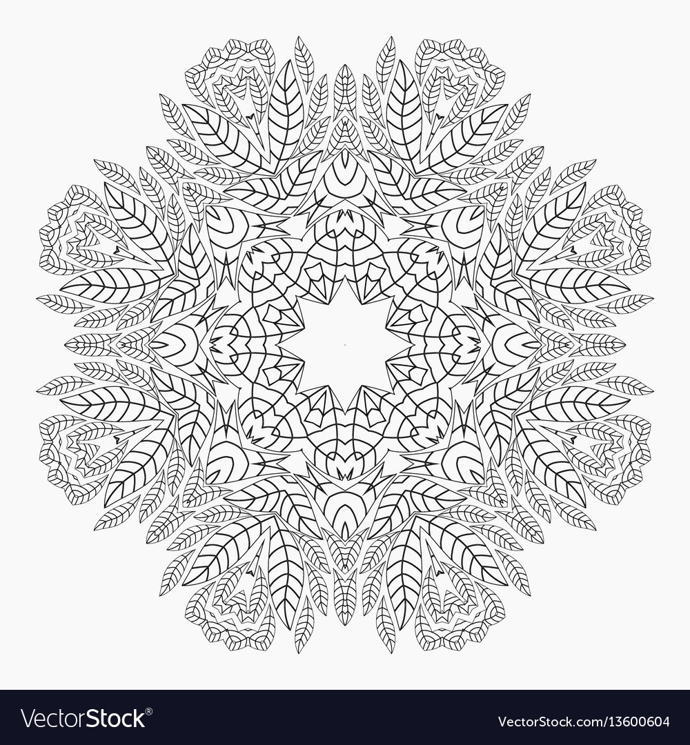 Mandala antistress coloring pages vector image