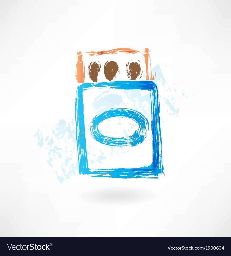 Matchbox grunge icon Royalty Free Vector Image
