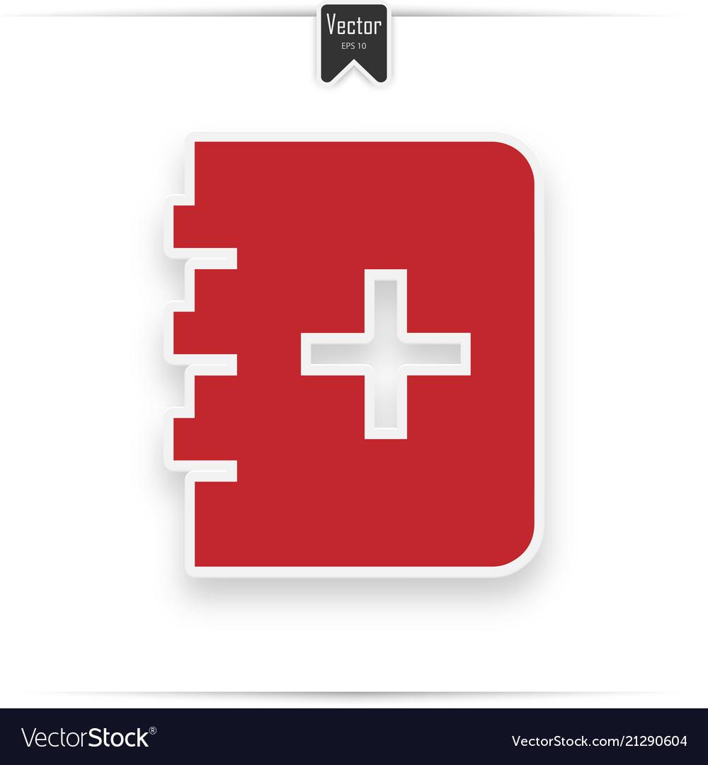 Medicine book icon red