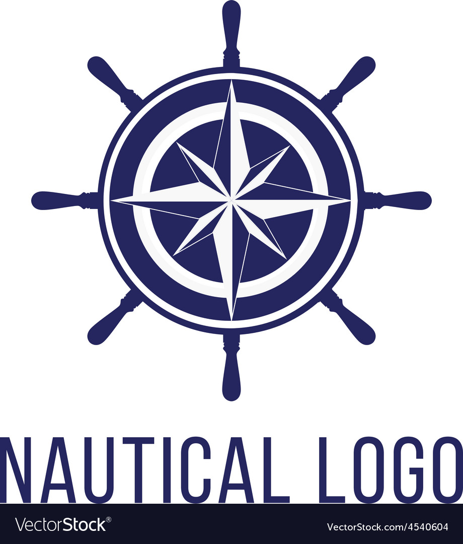 Nautical logo template Royalty Free Vector Image