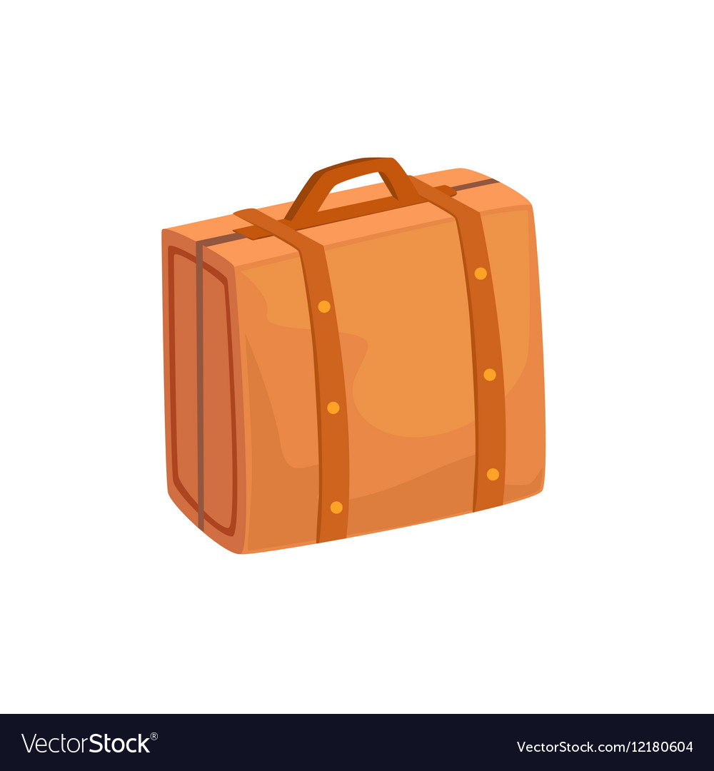 Old-School Man Leather Handbag Case Item From vector image