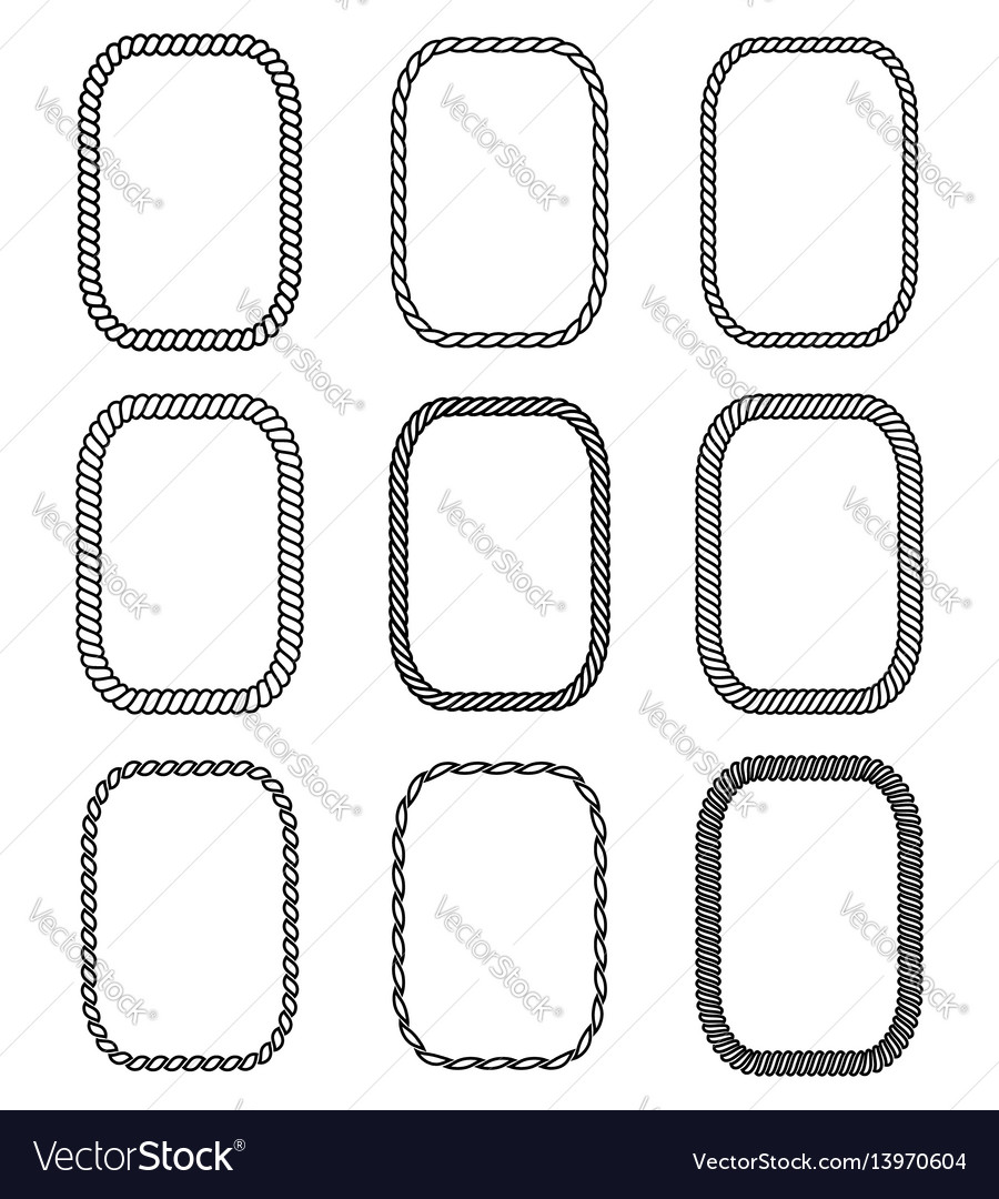 Rope set of rectangular frames collection of