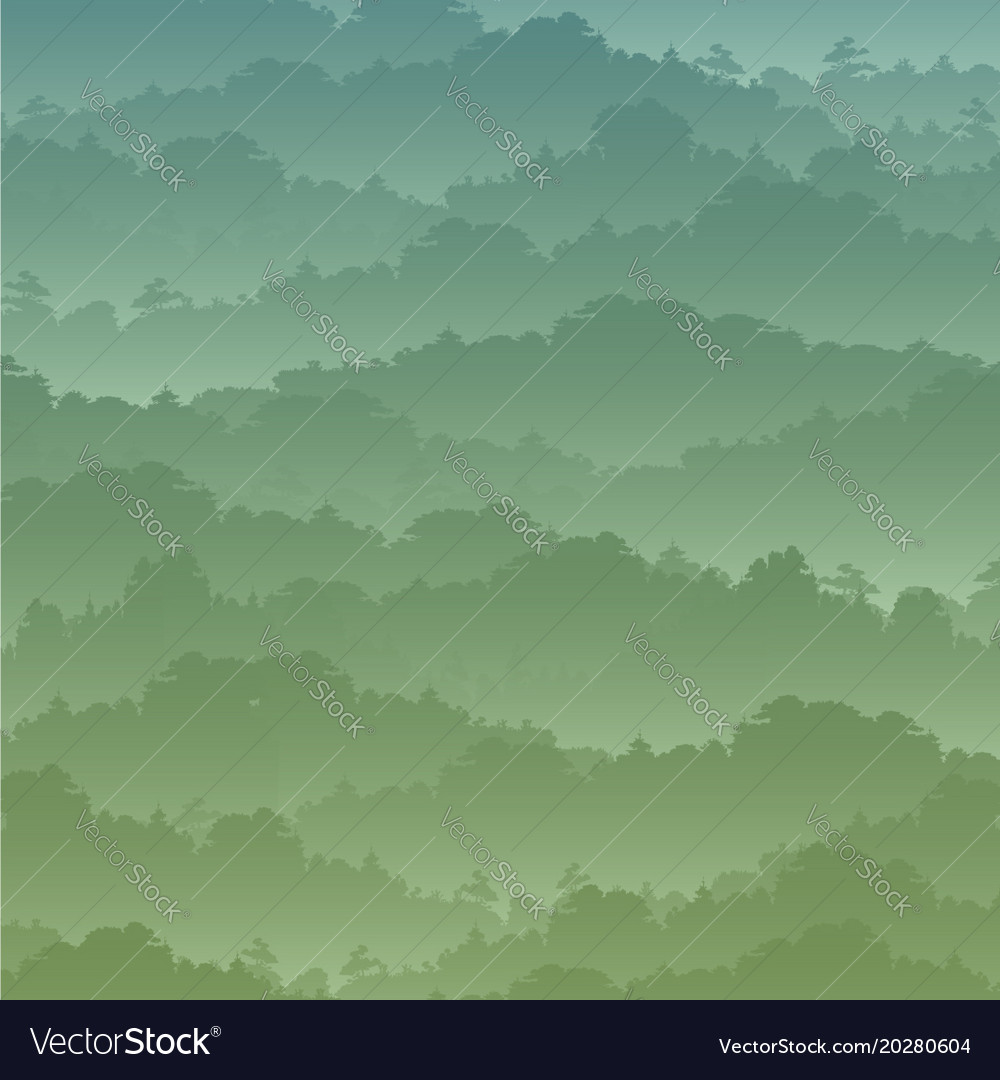 Seamless background green mountain landscape in