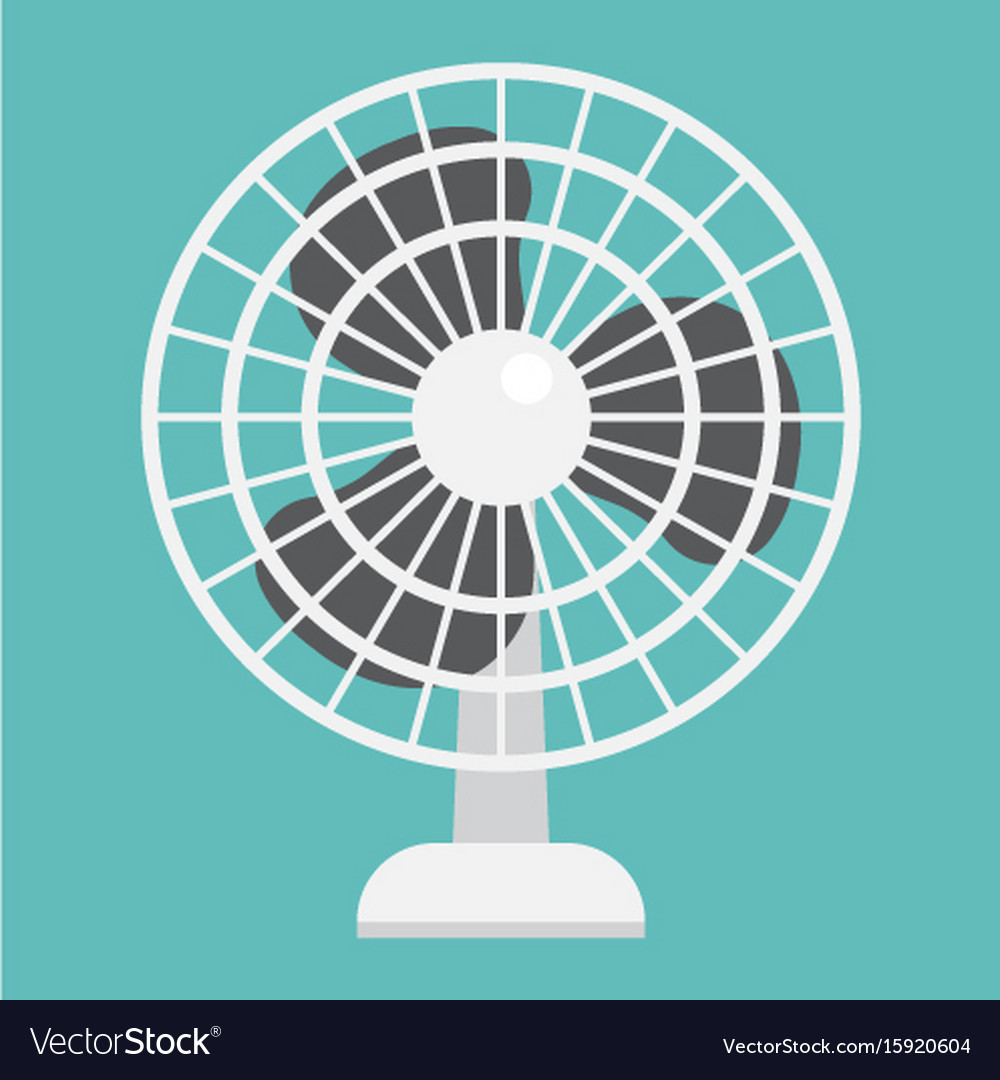 Table fan flat icon household and appliance