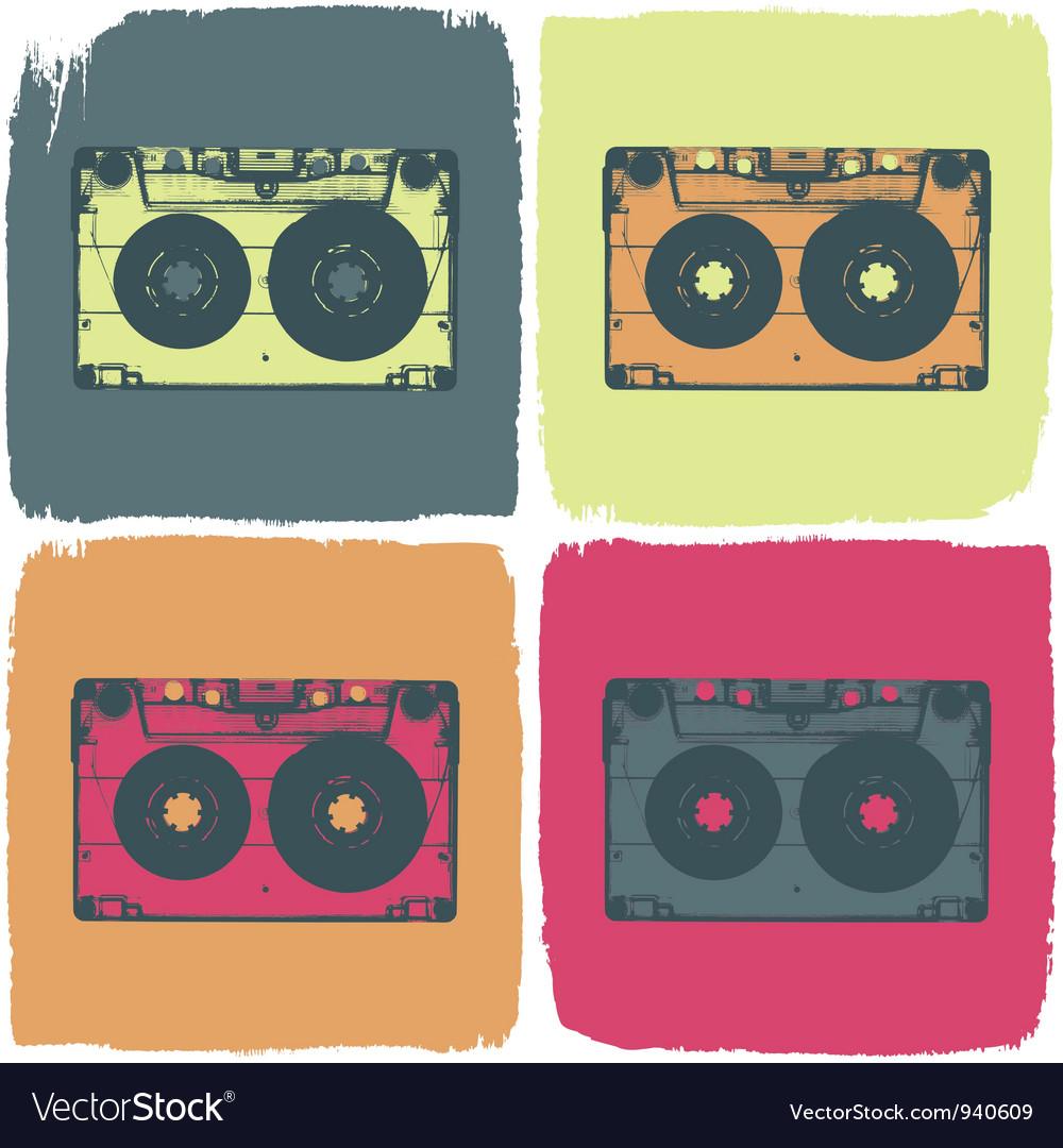 Audio cassette pop art concept vector image