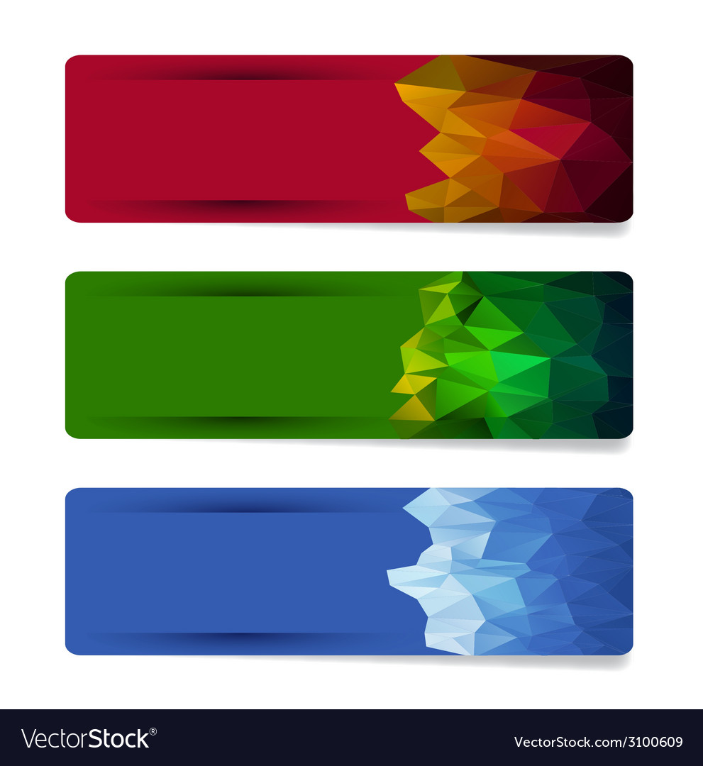banner set with geometric shape designs royalty free vector