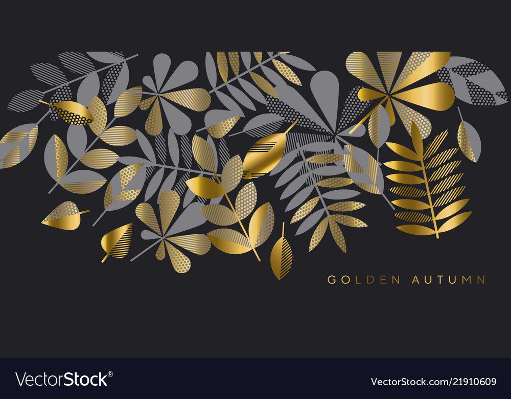 Black and gold luxury leaves pattern