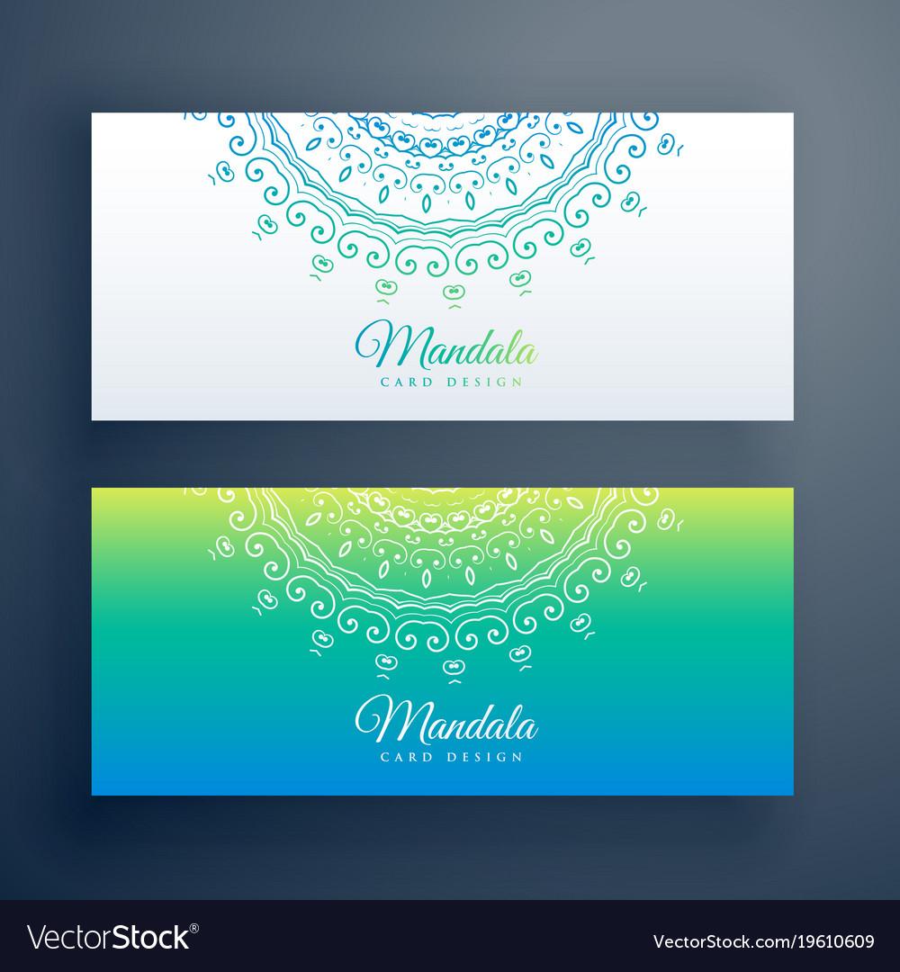 Elegant artistic mandala banners set