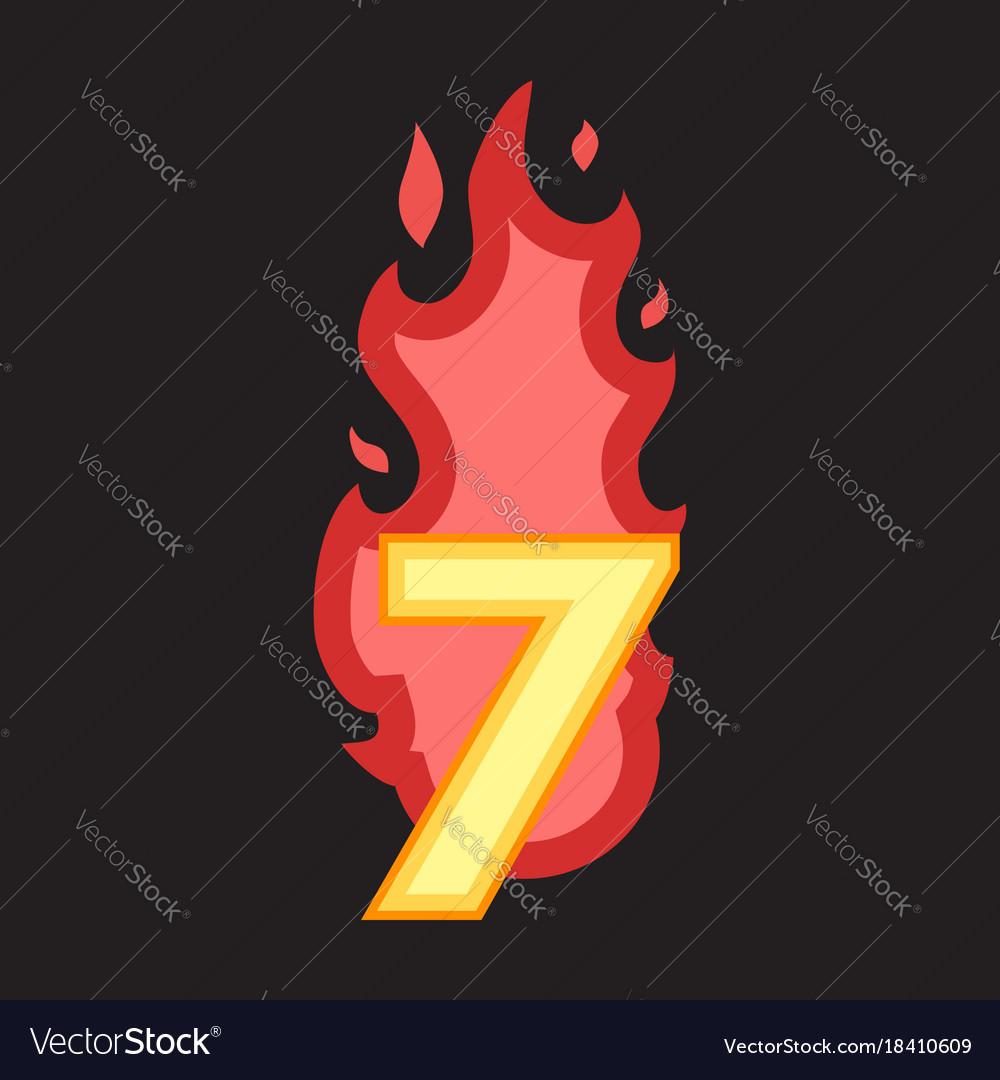Flaming number seven