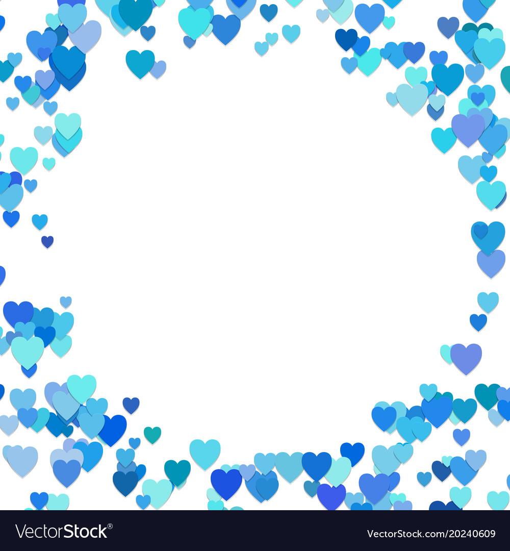 Happy random heart background design - valentines vector image