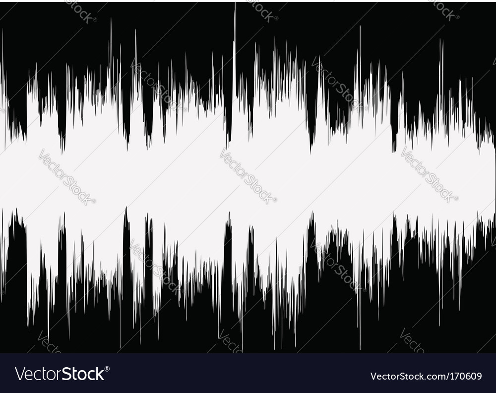 Music wave vector image