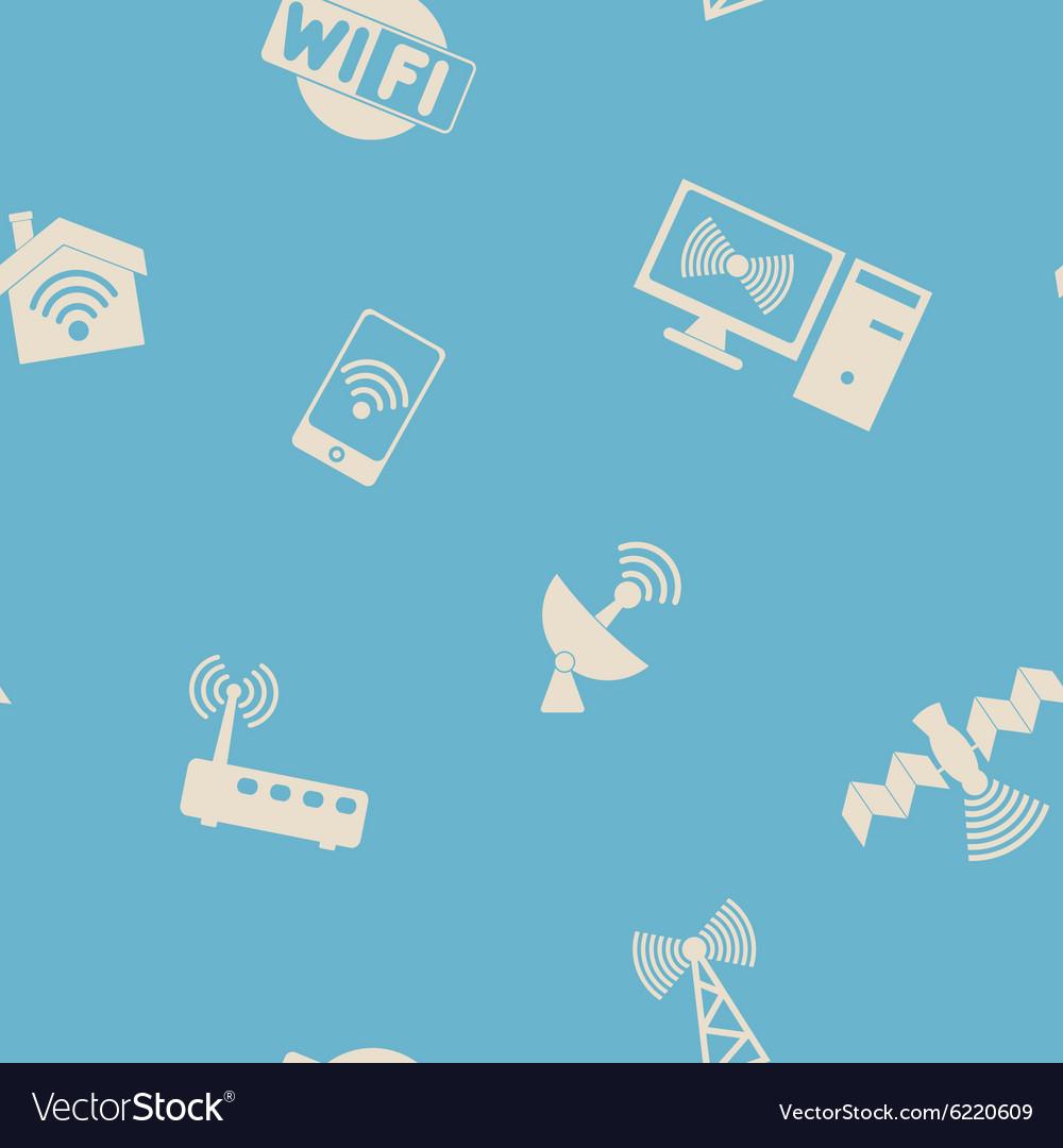Seamless background with wi fi symbols