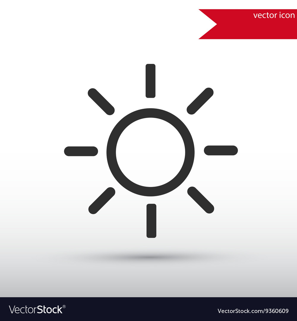 Sun black icon and jpg Flat style object