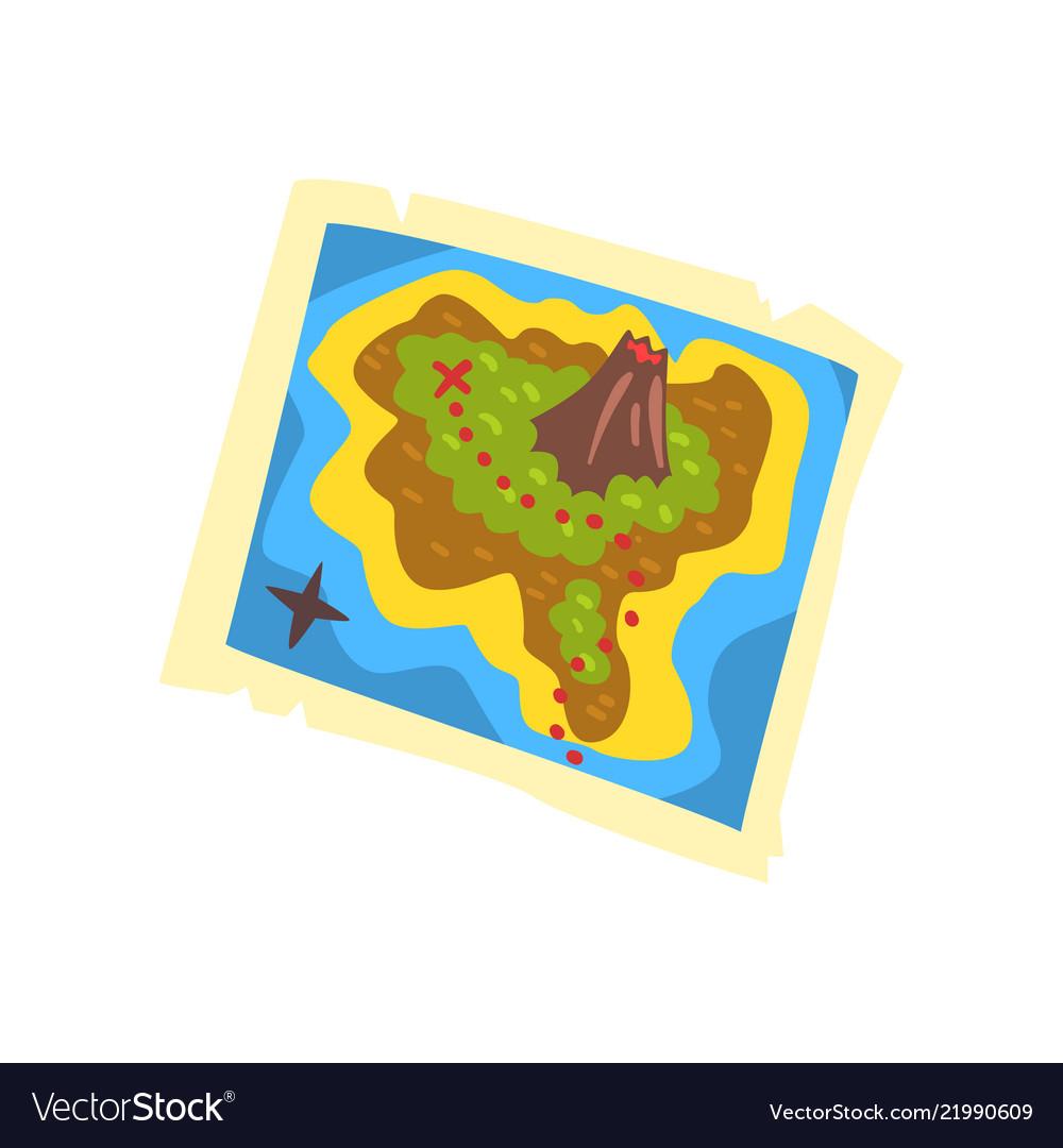 Treasure map pirate adventures treasure island