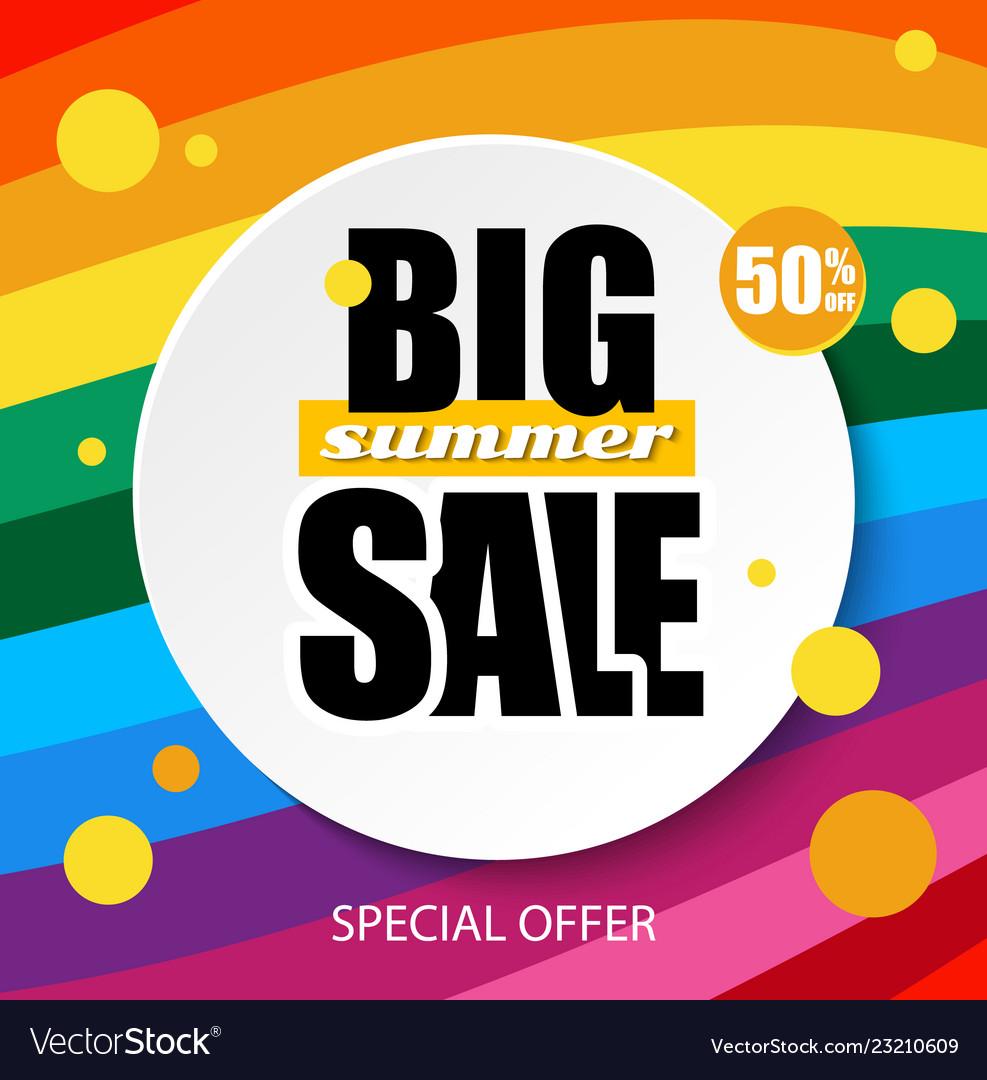 Web banner big sale summer summer background for