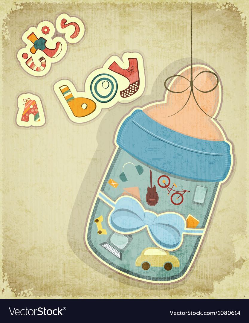 Birthday Card for Boy vector image