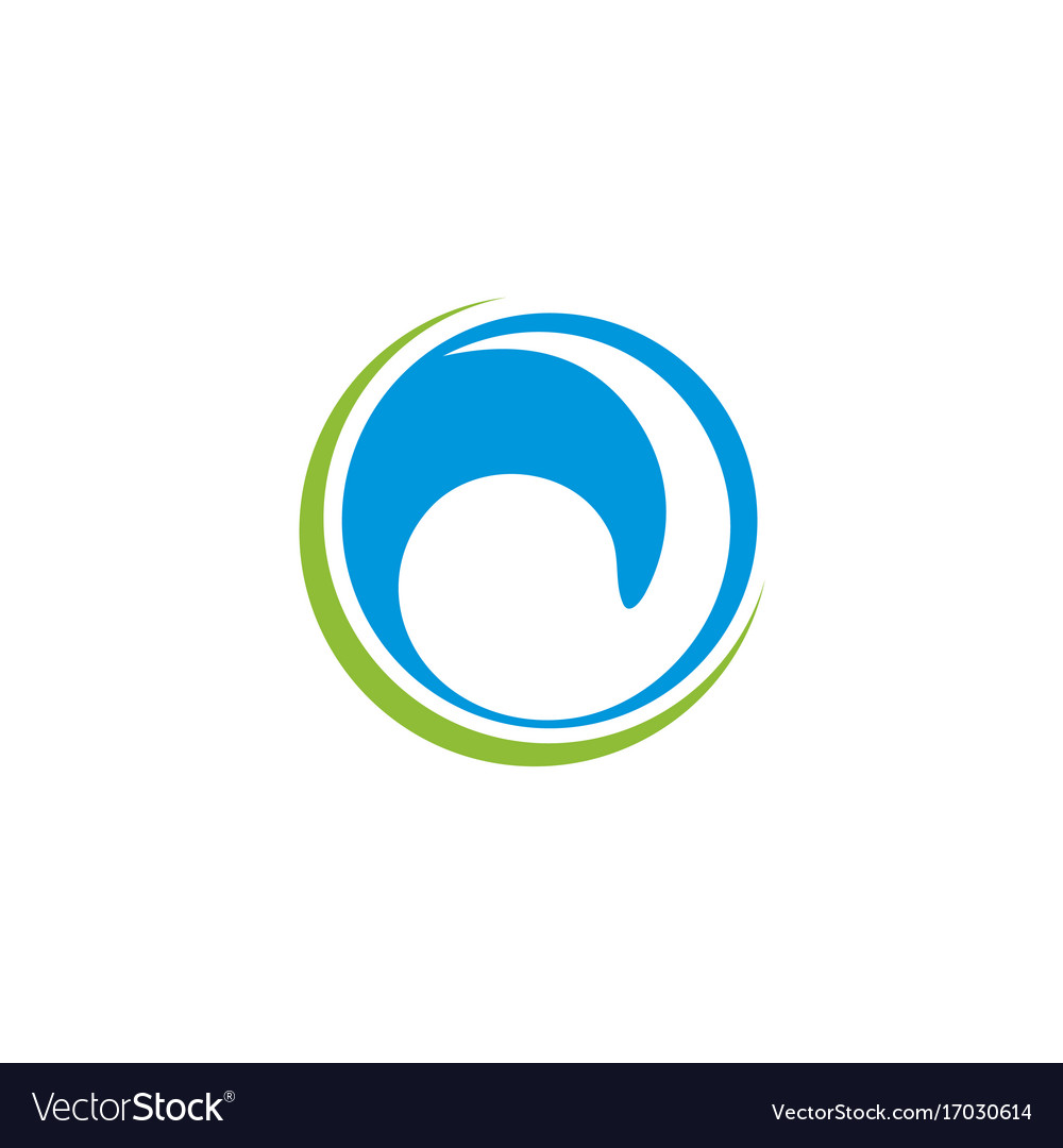 Circle abstract water wave logo vector image